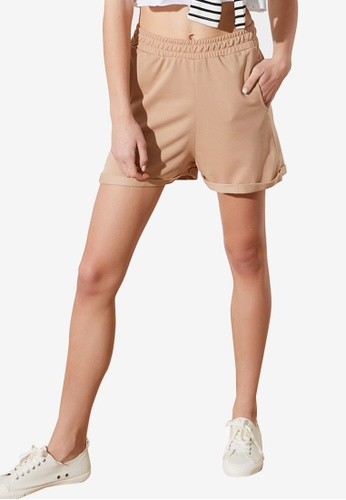 Trendyol brown Knitted Shorts ACBECAA0D96A96GS_1