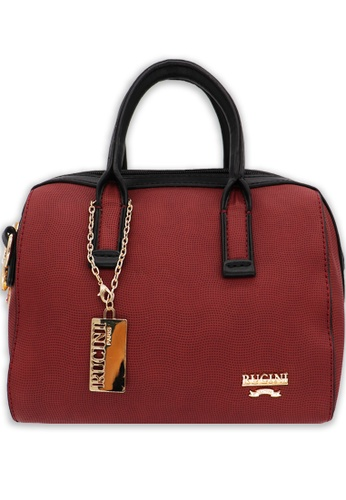 RUCINI red Rucini Cell Textured Bag 6A584ACF404B22GS_1