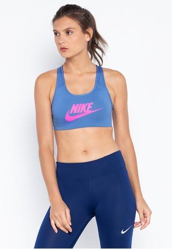 outlet store 5bf04 ba9cf Nike blue Women S Nike Swoosh Futura Medium Support Sports Bra  5F539USE8F4B4AGS 1