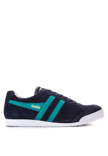Gola blue Harrier Suede Sneakers GO513SH43TQYPH_1