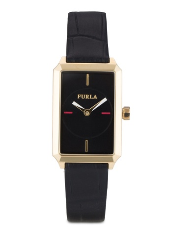 Furla black Furla Diana Ladies' Leather Strap Watch FU454AC13AMCMY_1