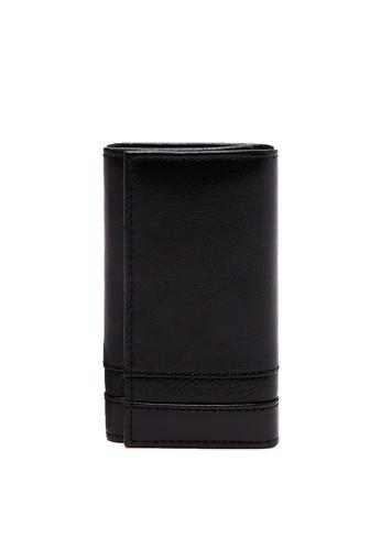 OVS black Piombo Genuine Leather Keyring 81937AC280A0EBGS_1