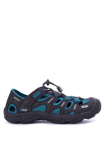 Krooberg blue and multi Rambler Shoes 0BC8FSH6FAB47BGS_1