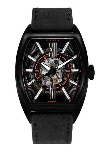 Aries Gold black Aries Gold Infinum Cruiser Black Leather Watch F9026AC9CDF978GS_1