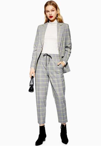 d7262d97abb Buy TOPSHOP Windowpane Check Suit Jacket Online on ZALORA Singapore