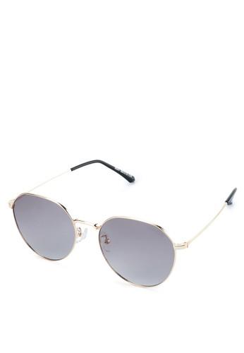 Urban State black Polarized Metal Retro Fashion Round Sunglasses E4427GL615C3D1GS_1