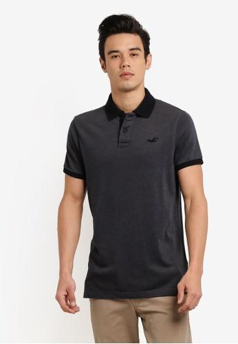 Hollister grey Stretch Core Polo Shirt HO422AA0RCQQMY_1