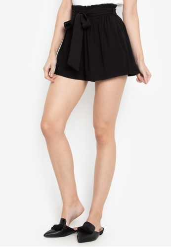 Susto The Label black Janie Paperbag Shorts 1B2EEAA6F7F530GS_1