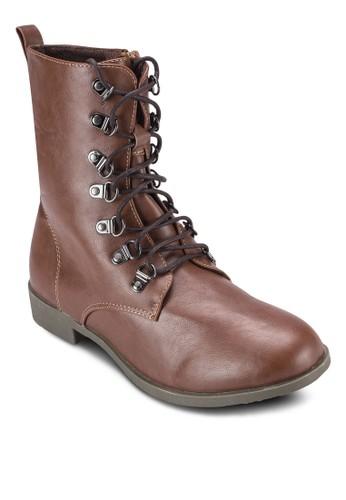 繫帶高筒靴esprit 門市, 女鞋, 靴子