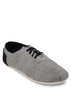 Fabric Lace Up Sneakers