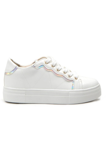 Crystal Korea Fashion white and silver Korean New Versatile Comfortable Casual Shoes 9833DSH5D6C099GS_1