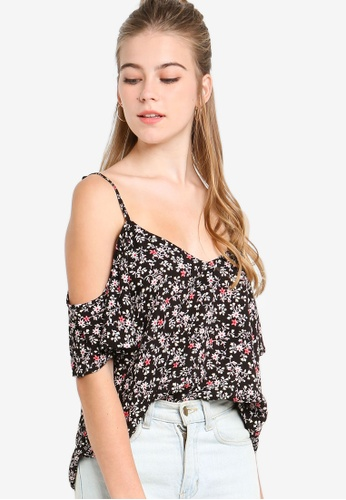8993b500a4574 Shop Something Borrowed Cold Shoulder Blouse Online on ZALORA Philippines