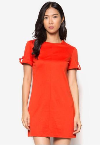 Orange Roll Tab Tunic, 服zalora 內衣飾, 短洋裝