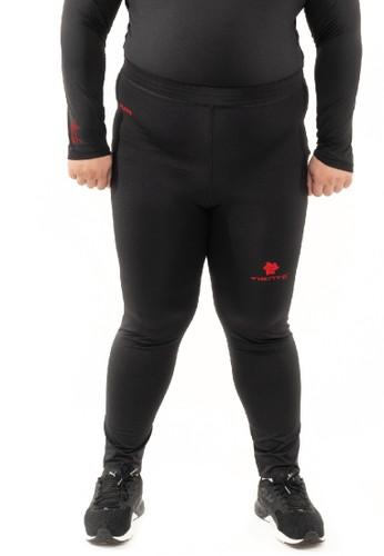 Tiento black Tiento Man Long Pants Big Size Black Red  Celana Legging Pria Olahraga Renang Sepakbola Lari Original 6B718AA0FB46EFGS_1