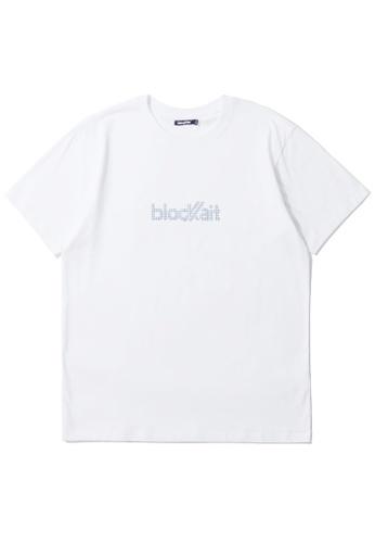 BLOCKAIT white Studs logo tee 664C0AA8830E3AGS_1
