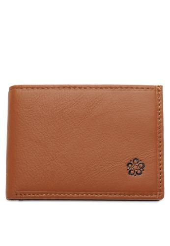Wild Channel brown Rfid Short Wallet 0865DAC8764939GS_1