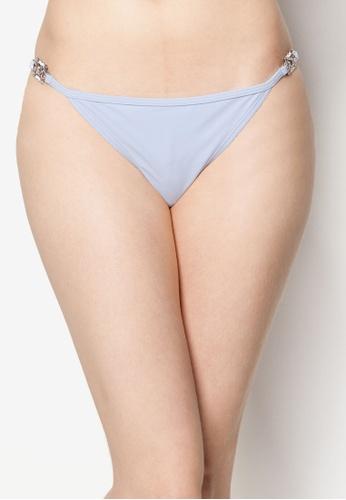 River Island blue Jewel Strap Side Tie Bikini Bottoms RI923AA67SPKSG_1
