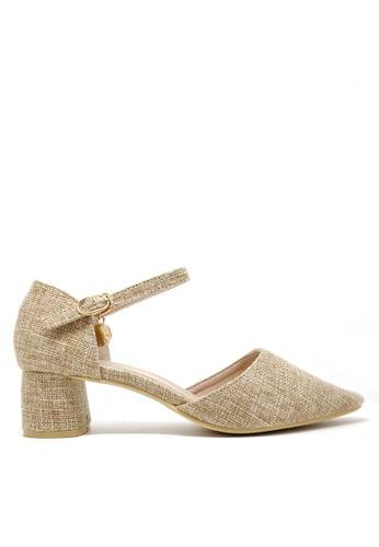 Twenty Eight Shoes beige Tweed Mid Heel 1802-1 EE117SH1E28214GS_1