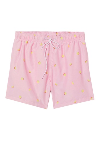 H&M pink and multi Printed Swim Shorts CDF50US16862A1GS_1