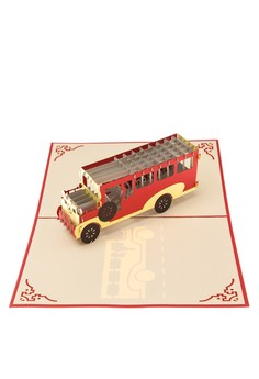 Pop Cards Manila Heritage Edition Jeepney Red