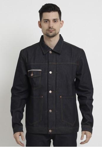 PAPPERDINE blue Papperdine 2313 Jeans Denim Jacket Selvedge Accent 14 OZ Non Stretch Raw 761F6AA97B5B84GS_1