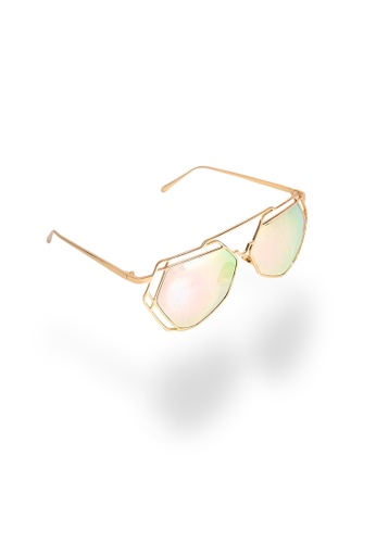 Amora Scarlett gold Arty Reflective Sunglasses in Pink - Rose Gold Frame AM058AC24TEPMY_1