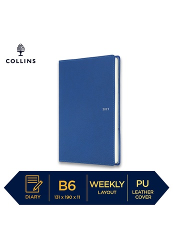 Collins Collins Metropolitan  Melbourne ─ 2021 Calendar Year Diary ─ Indigo ─ B6 Week to View EDD25HL259ED82GS_1