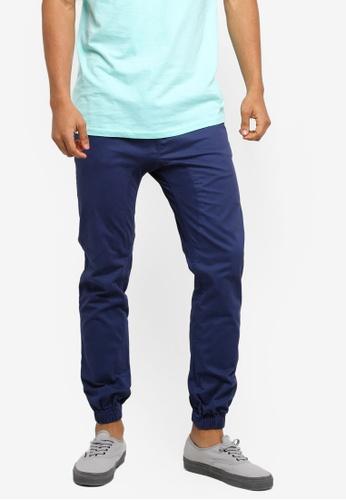 Cotton On 海軍藍色 Drake Cuffed Pants 945B5AA2941DB9GS_1