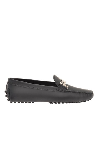 Tod's black TOD'S DOUBLE T LOAFERS 082F2SH8370816GS_1