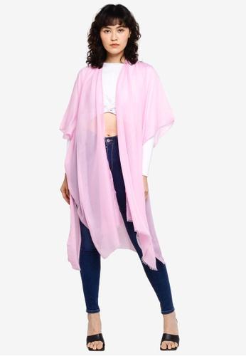 Vero Moda purple Lena Poncho 5482FAC1B82C4DGS_1