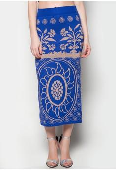Maxi Knitted Skirt Camilla Printed Design