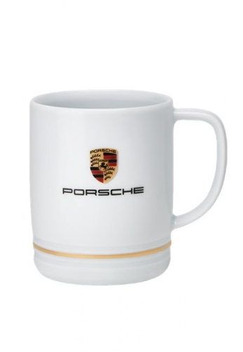 Porsche Driver's Selection white White Mug Porsche Gold Logo Crest Drinking Cup Porcelain Coffee Big 66860HLA4BCFC0GS_1