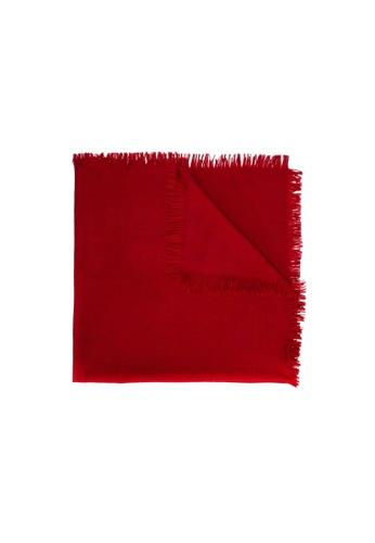 Gucci red PRE-LOVED GUCCI GG WOOL SILK SHAWL 5AAEAAC90D4B93GS_1