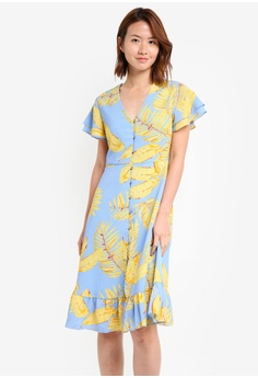 ZALORA blue Button Down Sun Dress 9AA5FAAEA2D8AAGS_1