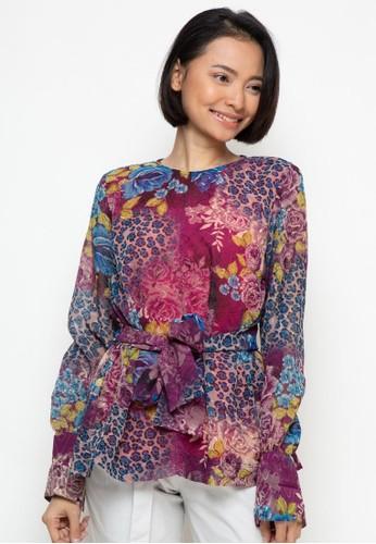 Novo purple Blouse Floral 5904 29651AAE4EACB8GS_1