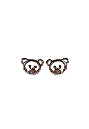 LYCKA silver LDR1319 S925 Silver Teddy Bears Stud Earrings C9380ACCB6BBF9GS_1