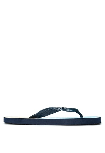 BENCH blue Printed Rubber Slippers BE550SH18MAVPH_1