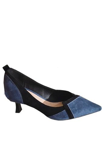 Twenty Eight Shoes 藍色 超纖絨中跟鞋 VL66620 0BFB1SH12FE6D9GS_1