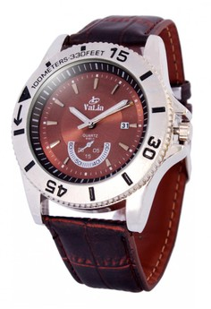 Valia Alfie Leather Strap Watch 8191-1