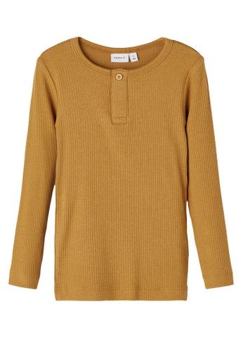 NAME IT orange Kabille Long Sleeves Slim Top 9AC7FKA1749CD3GS_1