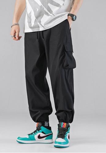 Twenty Eight Shoes black VANSA Drawstring Causal Cargo Trousers VCM-P2010 329F2AAC865395GS_1