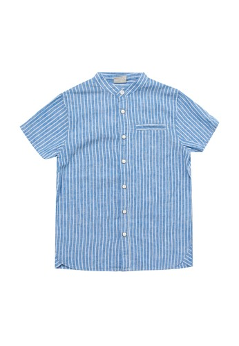 Giordano multi Junior Short Sleeve Cotton Linen Shirt 1A187KAAFFDAA1GS_1