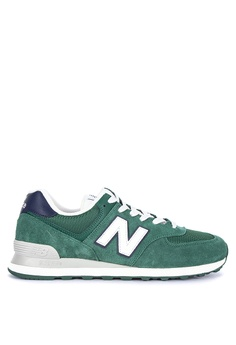 info for 4b564 072b4 New Balance green 574 Classic (Vintage Pack) Sneakers 12244SH5A0E0A9GS 1