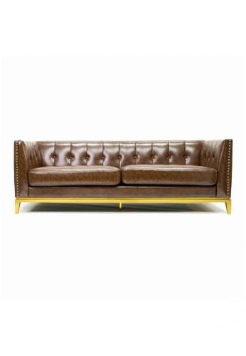 Choice Furniture brown Choice Furniture - Soham Chesterfield Sofa 8C0D6HLB239EE9GS_1