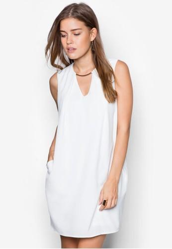 金屬條鏤空連身裙, 服飾, zalora鞋服飾