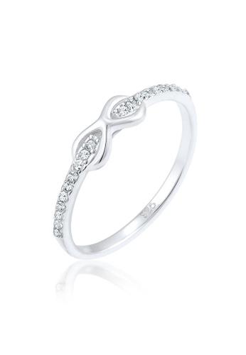 cfa157e36 Elli Germany silver Elli Germany Ring 925 Sterling Silver Infinity Swarovski  Crystals 8B230ACCFB85A2GS_1