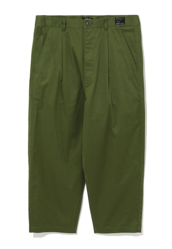 Fivecm green Tapered crop trousers B51C5AAC356D6BGS_1