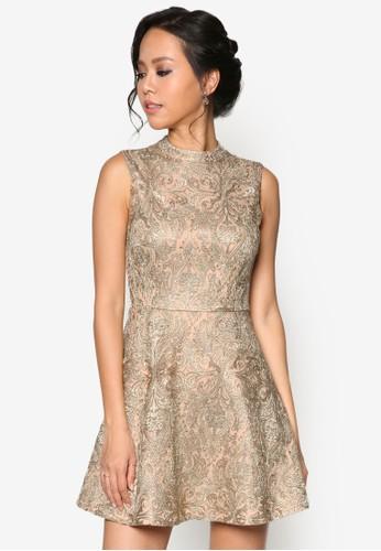 蕾絲旗袍式修身寬擺洋裝,esprit地址 服飾, 洋裝