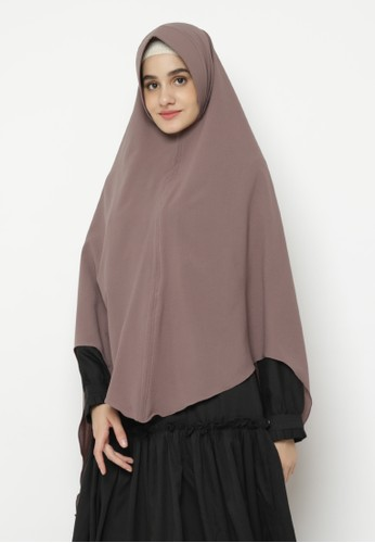 delarosa brown Khimar with Niqob in Mocca Colour 9D282AA37B0D7AGS_1