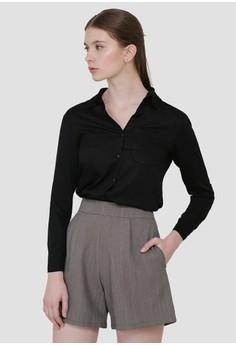 dfe8b449fd91 Cloth Inc black One Pocket Shirt in Black 20D93AA6D1D820GS_1
